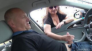 Rich age-old dude gives emphatic to amateur Kristyna Michunkova for sex